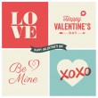Valentines day vector design element — Stockvektor