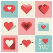 Heart Icons Set — Stock Vector #35383111