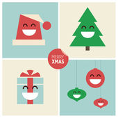 Christmas cartoon design elements. — Stock Vector