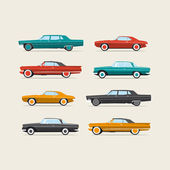 Vintage cars illustration vector design. — Stok Vektör