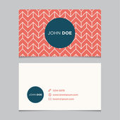Business card template, background pattern — Stock Vector