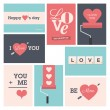 Set of valentine cards — Stockvectorbeeld