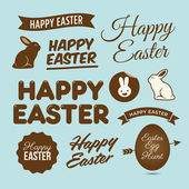 Happy easter design elements, badges and labels — Stock Vector