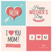 Happy mothers day cards — Stock Vector