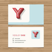 Business card with alphabet letter — Stock Vector