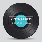 Vinyl record 33 RPM mock up — Stock Vector