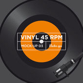 Vinyl record 45 RPM mock up — Stock Vector