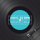 Vinyl record 33 RPM mock up — Stock Vector
