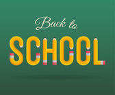 Back to school design elements — Stock Vector