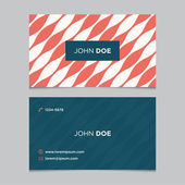 Business card template with background pattern — Stock Vector