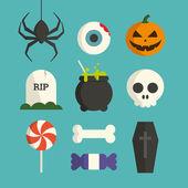 Halloween symbol illustration set vector — Stock Vector