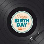 Happy birthday card. Vinyl illustration. — Stock Vector #48844905