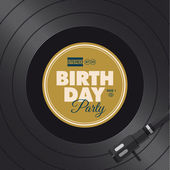 Birthday party invitation card. Vinyl illustration. — Stockvektor