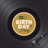 Birthday party invitation card. Vinyl illustration. — Stock Vector