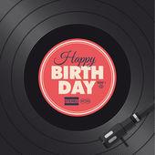 Happy birthday card. Vinyl illustration. — Stock Vector