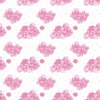 Royalty-Free Stock Vector Image: Vector illustration. Seamless pattern with pink cute clouds.