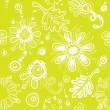 Fanciful youth seamless floral pattern. (vector) - Stock Vector