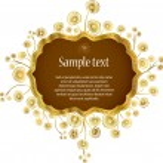 Elegance frame with flowers, floral illustration in vintage style. — Stock Vector #13352603