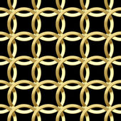 Fine seamless pattern with gold rings. — Stok Vektör