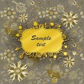 Zaproszenie lub pozdrowienie szablon z bezszwowe tło kwiatowy. ilustracja wektorowa. — Wektor stockowy
