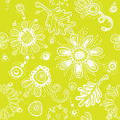 Fanciful youth seamless floral pattern. (vector) — Stock Vector