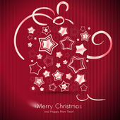 Kerst aanwezig vak gemaakt van sterren - kerstkaart. — Stockvector
