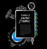 рамка с элементами конструкции дизайна. металлические векторный фон. — Cтоковый вектор