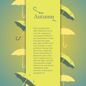 Flyer, brochure or cover design with autumn design elements. — Stock Vector