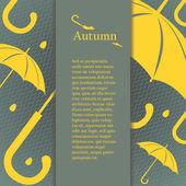 秋季设计元素的海报、 小册子或封面设计. — 图库矢量图片