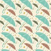 Retro naadloze patroon met paraplu 's. — Stockvector