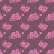 Vector illustration. Seamless pattern with pink cute clouds. - Imagen vectorial