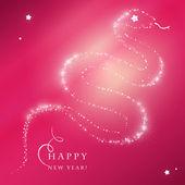Wesołych świąt bożego narodzenia pocztówka z węża — Wektor stockowy