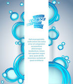 Vector abstract background with blue bubbles element. — Stock Vector
