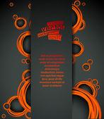 Vector, abstracte achtergrond met oranje bubbels element — Stockvector