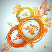 Abstract bubble vector illustration background. — 图库矢量图片