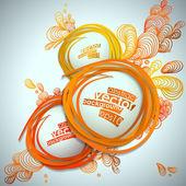 Fondo abstracto burbuja vector illustration. — Vector de stock