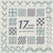 A set of 17 perfectly seamless retro patterns. Vector. — Stock Vector