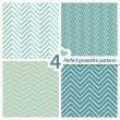 A set of 4 perfect seamless Zig zag patterns. — Stockvektor