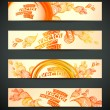 Royalty-Free Stock Vector Image: Set of banners, abstract headers with yellow blots.