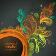 Funky graphic design - abstract background — Image vectorielle