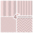 A set of 4 perfect seamless Zig zag patterns. — Stock Vector #13480993