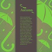 Folheto, brochura ou capa de design com elementos de design outono. — Vetorial Stock