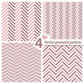 Un set di 4 pattern di perfetta senza cuciture zig zag. — Vettoriale Stock