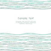 Seamless stylish pattern with decorated waves. — Stock Vector