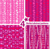 A set of 4 perfect seamless abstract patterns. — Stock Vector