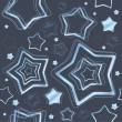 Holiday seamless pattern with stars. — Stock vektor