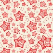 Festive seamless pattern with decorated stars. — Stock vektor