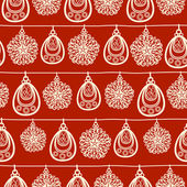 Vector Christmas and New Year seamless pattern. — Stock Vector