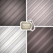 Set of 4 stylish seamless masculine patterns. — Stock Vector