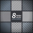 A set of 8 vector seamless stylish patterns. — Stock Vector